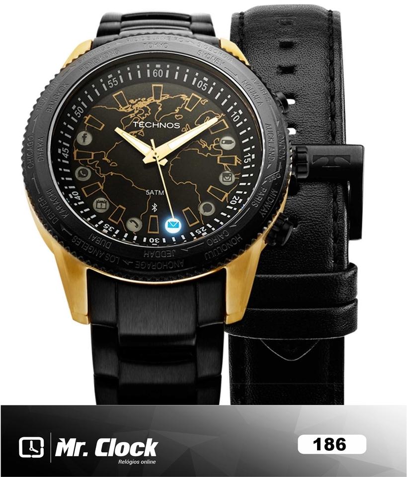 5afc1cdb8f317 Relógio Technos Connect 2.0 Masculino Troca Pulseiras - Mr.Clock