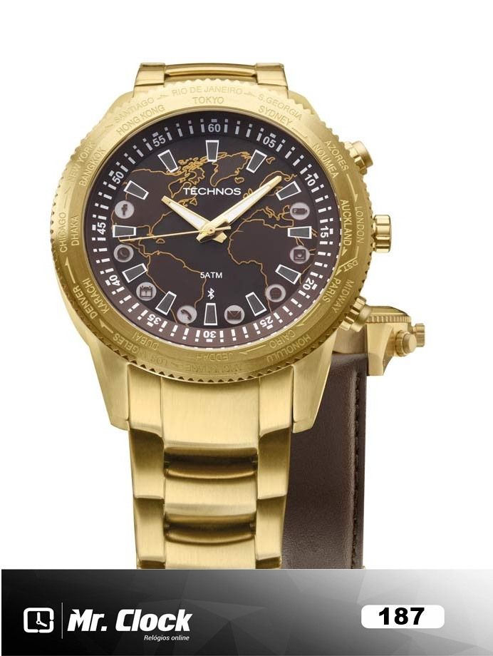 fc06d8cd474ba Relógio Technos Connect 2.0 Masculino Troca Pulseiras - Mr.Clock