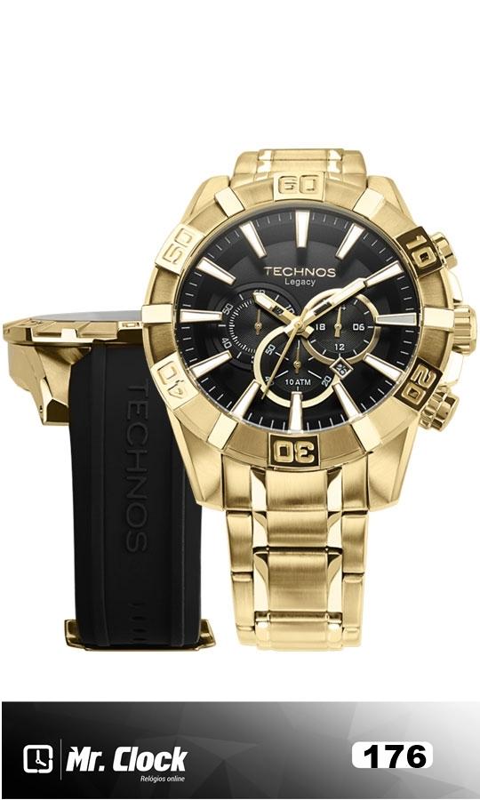 Relógio Technos Masculino Classic Legacy Troca Pulseira - Mr.Clock 1989fe5671