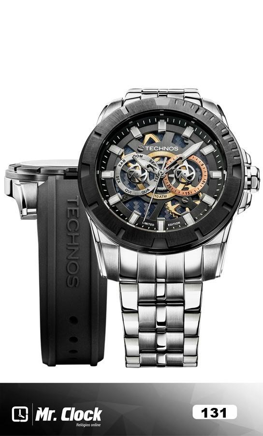 Relógio Technos Masculino Performance Carbon Troca Pulseira - Mr.Clock 88cfb4d467