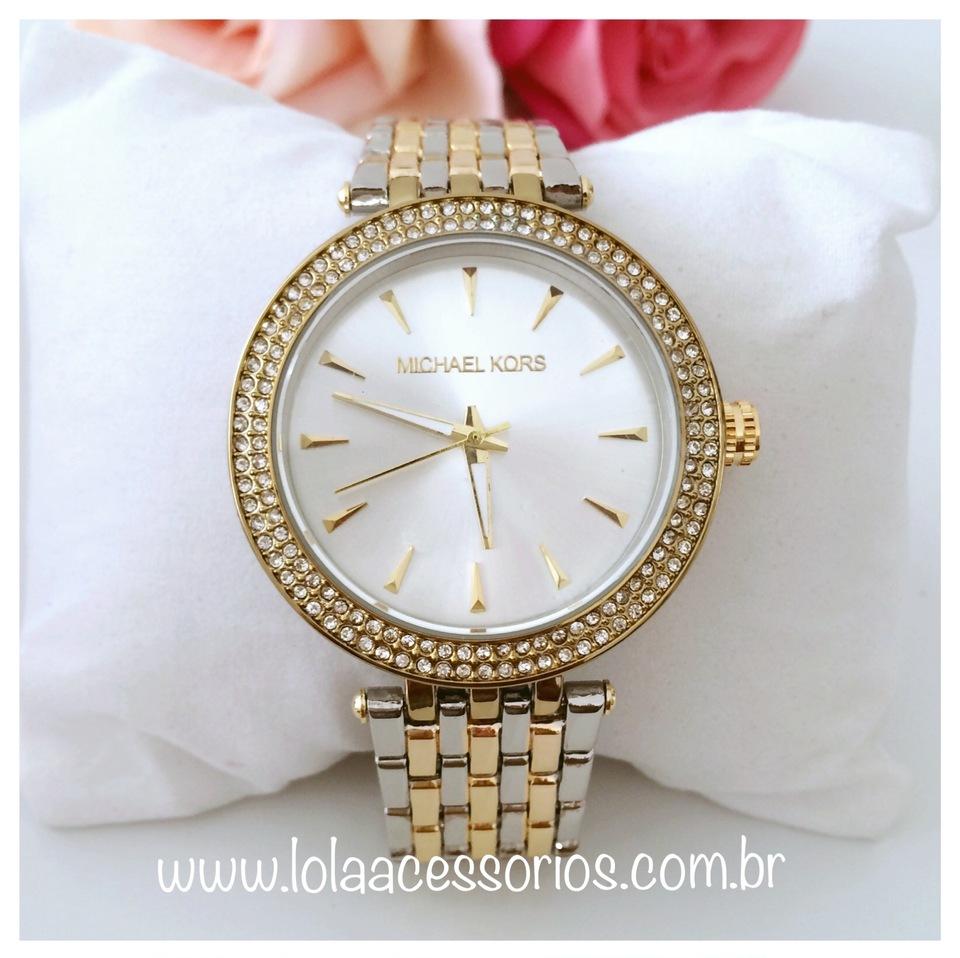 ac66a4b352872 Relógio Prata   Dourado - Fundo Prata - Lola Acessórios - Loja de ...