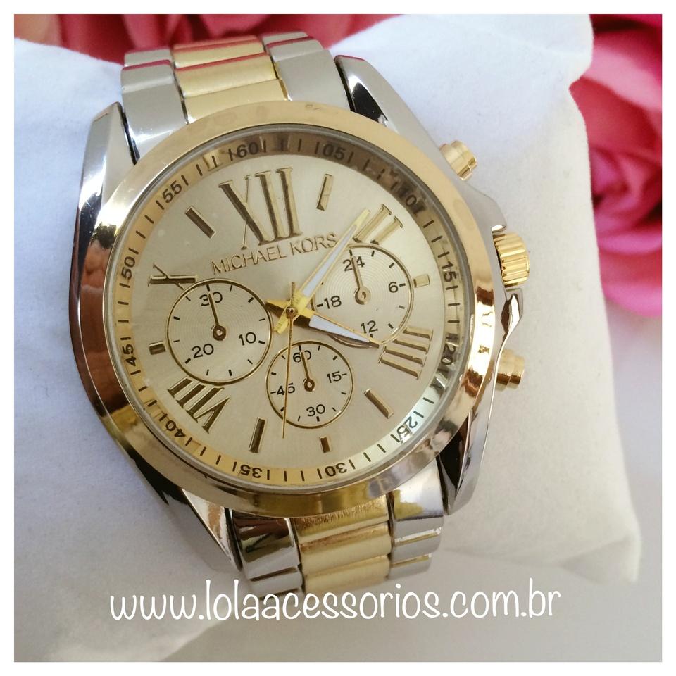 5d1e81de0be Relógio MK Prata e Dourado - Lola Acessórios - Loja de acessórios ...