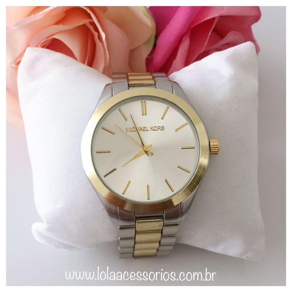 2b3c148169c Relógio MK Prata   Dourado - Lola Acessórios - Loja de acessórios ...