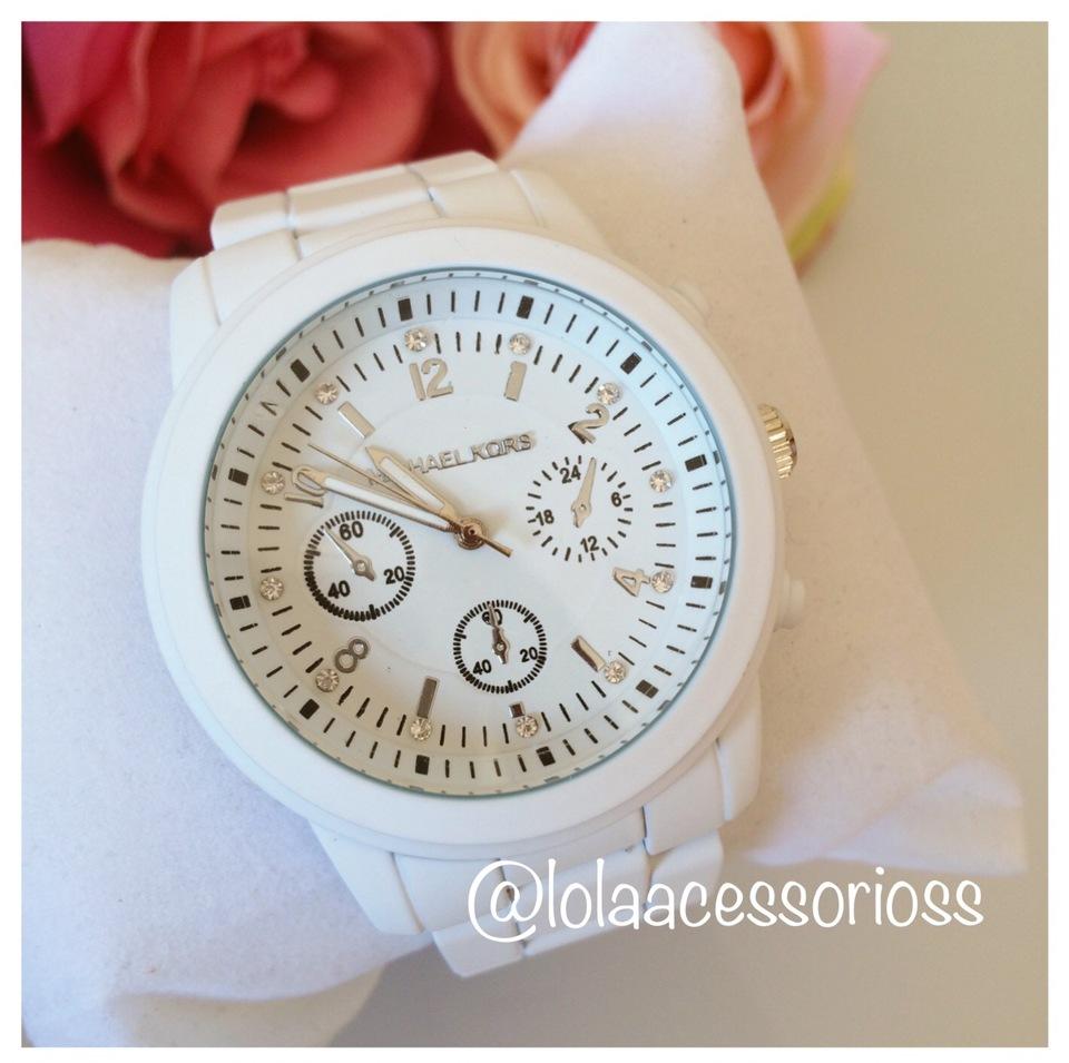 a64a3f93035b0 Relógio Michael Kors Branco - Lola Acessórios - Loja de acessórios ...