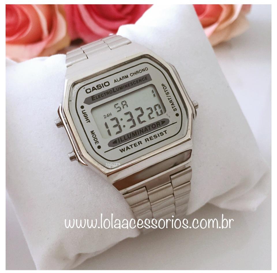 7ccc3013e11 Relógio Casio Retrô Prata - Lola Acessórios - Loja de acessórios ...