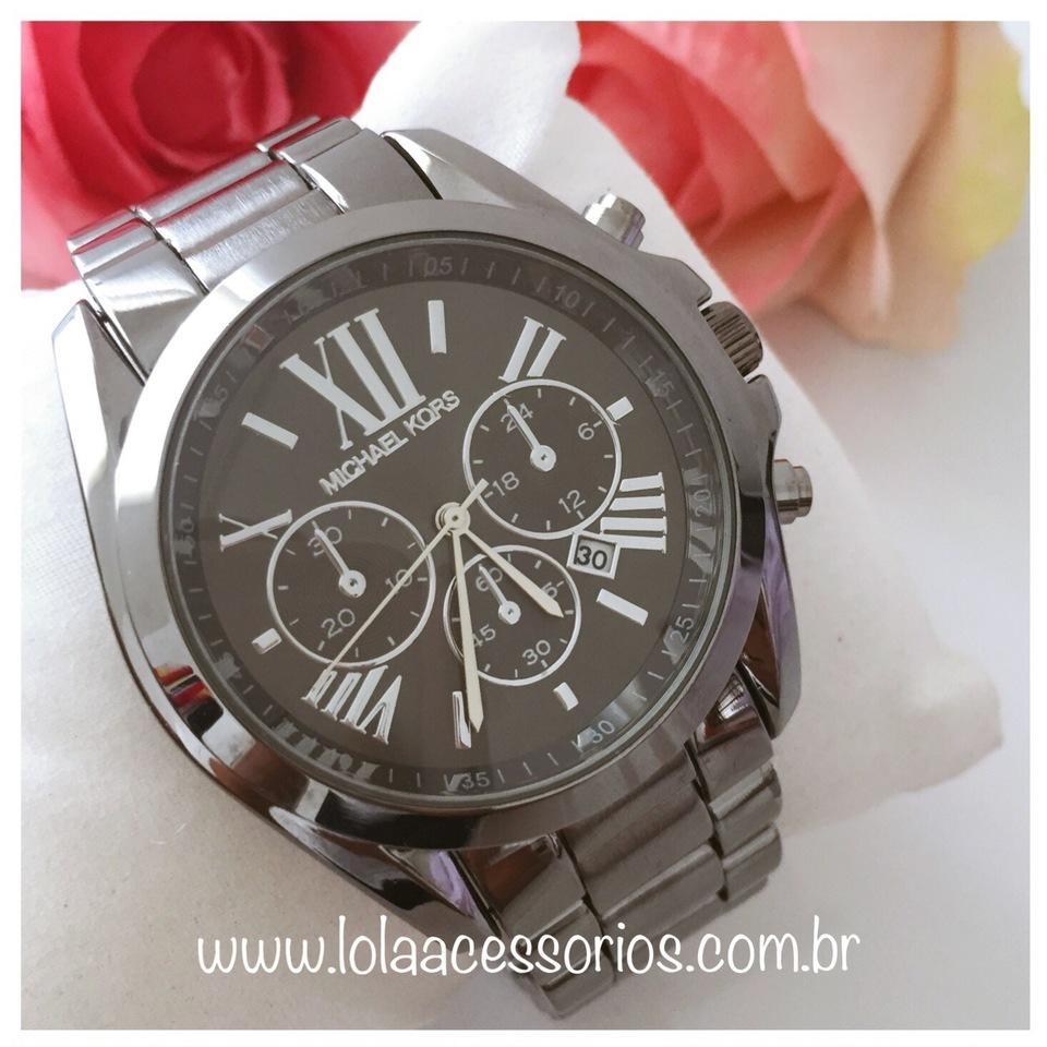 a621dc04ece16 Relógio MK Grafite - Lola Acessórios - Loja de acessórios Femininos