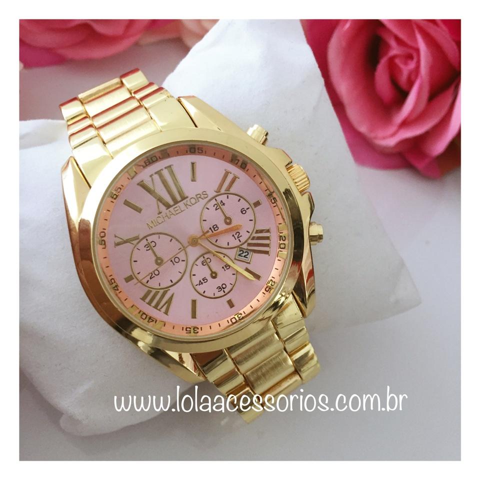 e84294f65ab Relógio MK Dourado - Rosa Bebê - Lola Acessórios - Loja de ...