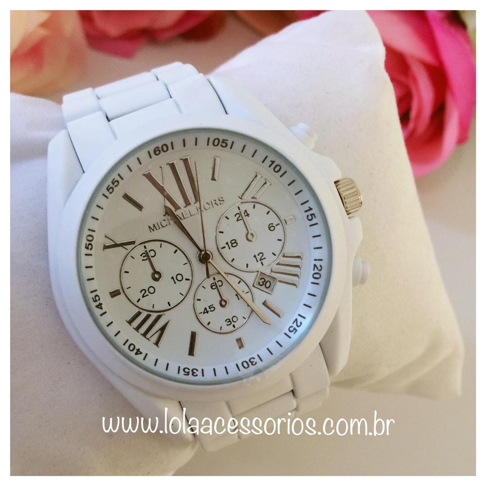 ed5f76204a192 Relógio MK Romanos Branco - Lola Acessórios - Loja de acessórios ...