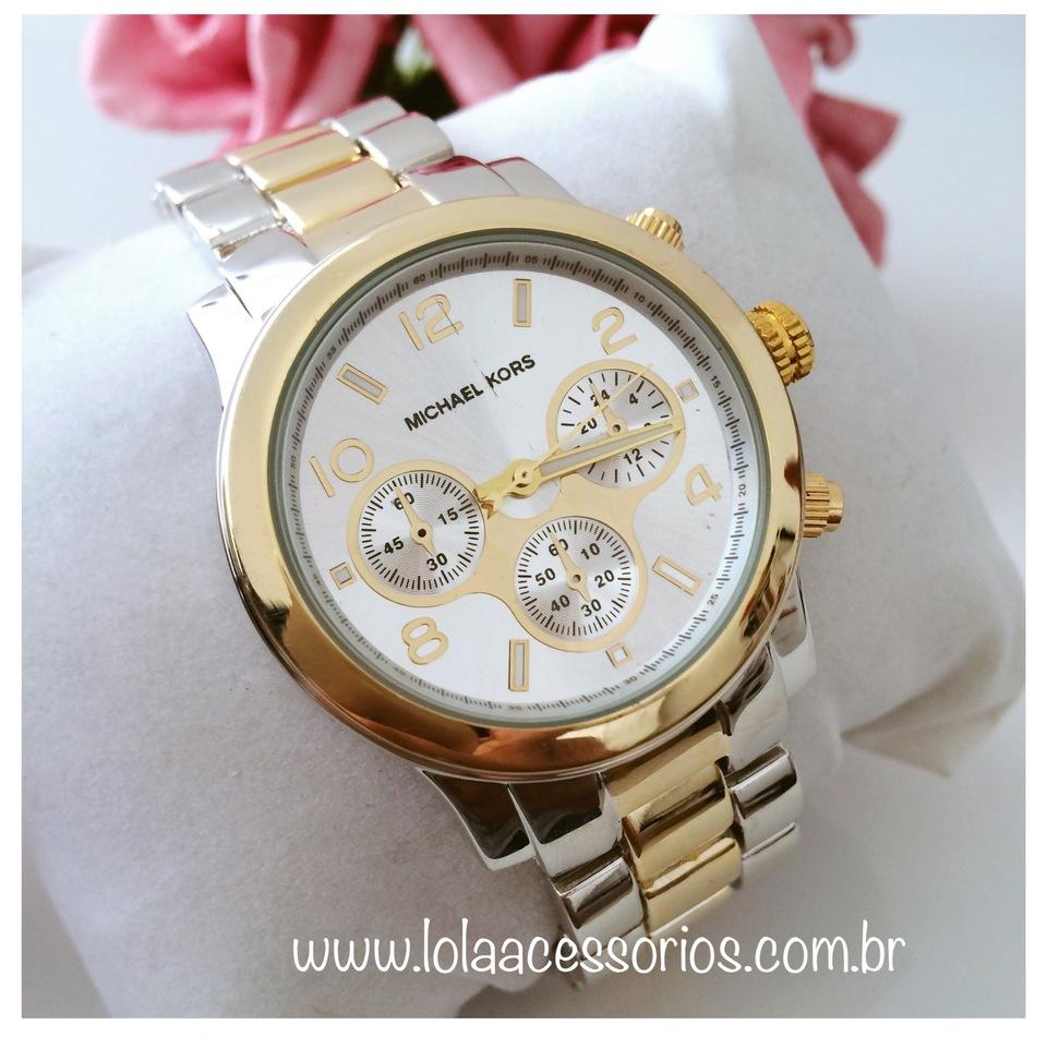 07a5b4b2eadf7 Relógio Michael Kors Prata e Dourado - Lola Acessórios - Loja de ...