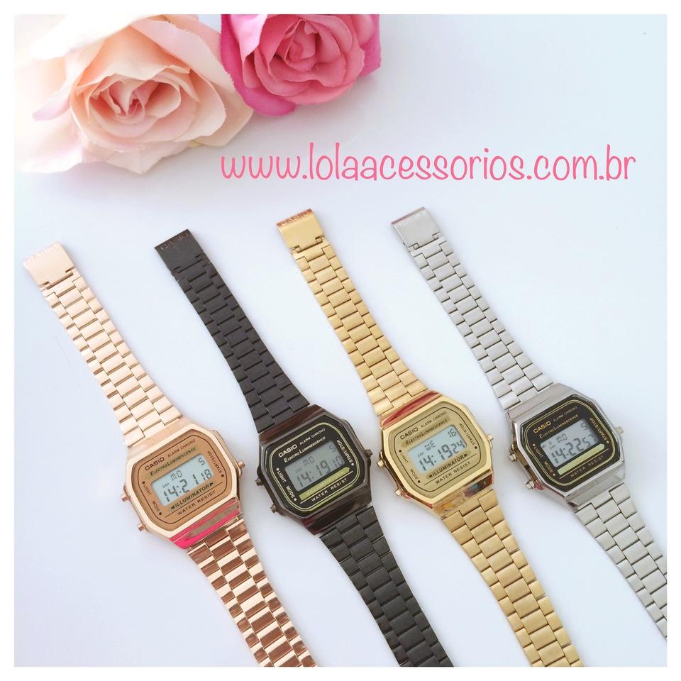 bb22120742b Relógio Casio Retro Inspired - Lola Acessórios - Loja de acessórios ...
