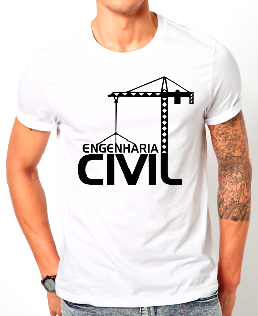 Transfer Sublimático Para Camiseta Engenharia Civil 002994