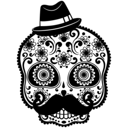 6ca416faa Transfer sublimático para camiseta Caveira Mexicana 002060