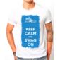 Transfer sublimático para camiseta Keep Calm 002952