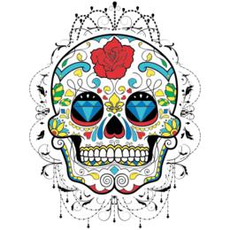 32df73d0a Transfer sublimático para camiseta Caveira Mexicana 002061