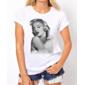 Transfer sublimático para camiseta Feminina Marilyn Monroe 001296
