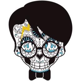 650b6cffe Transfer sublimático para camiseta Caveira Mexicana 002059