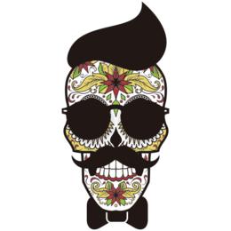 3063ed775 Transfer sublimático para camiseta Caveira Mexicana 002058