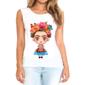Transfer sublimático para camiseta feminina Frida Kahlo 003068