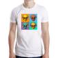 Transfer sublimático para camiseta Caveiras 003653