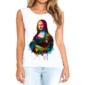 Transfer sublimático para camiseta Feminina Mona Lisa 003312