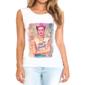 Transfer sublimático para camiseta feminina Frida Kahlo 003061