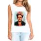 Transfer sublimático para camiseta feminina Frida Kahlo 003063