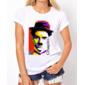 Transfer sublimático para camiseta Charlie Chaplin 001282