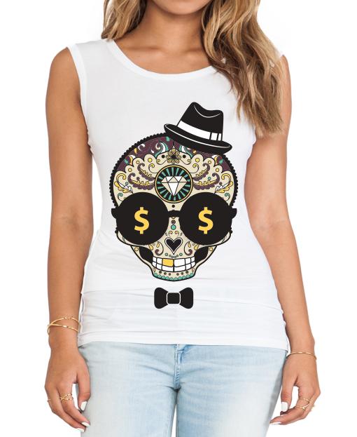 3aee4d672 Transfer sublimático para camiseta Caveira Mexicana 002057 ...