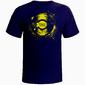 Camiseta Disco Shop Azul Marinho