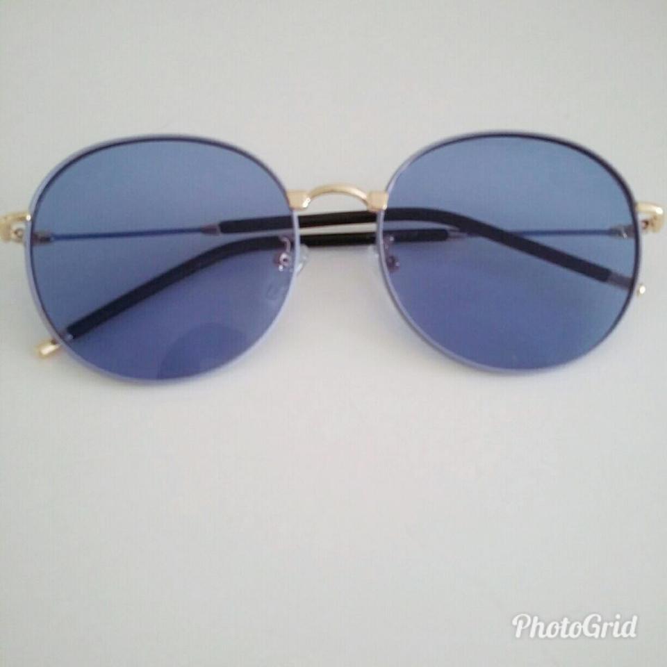 Óculos New Round-Azul