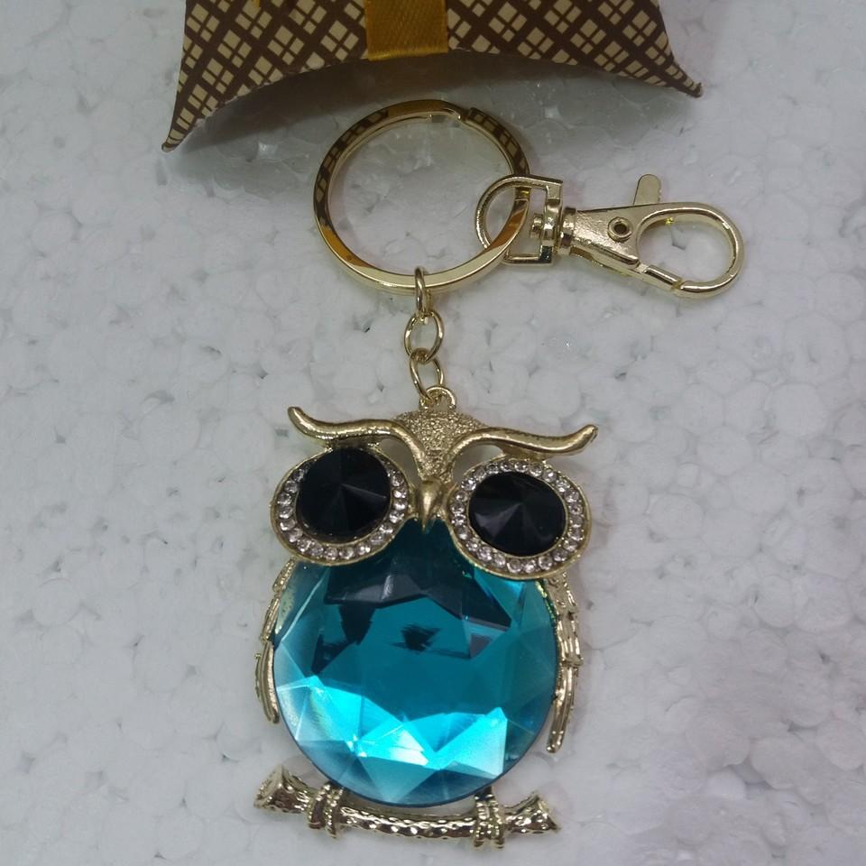 Chaveiro Coruja Azul