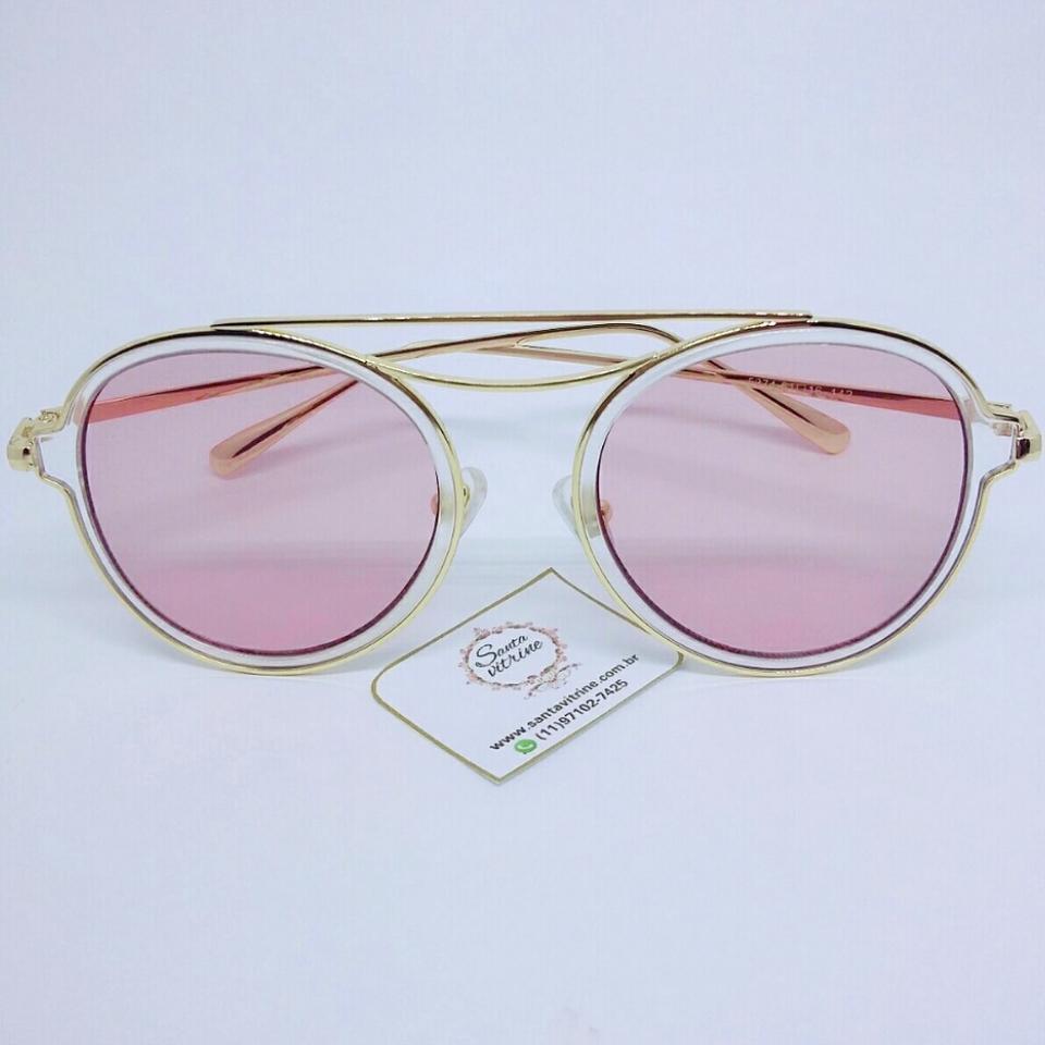 Óculos Gold Rosê