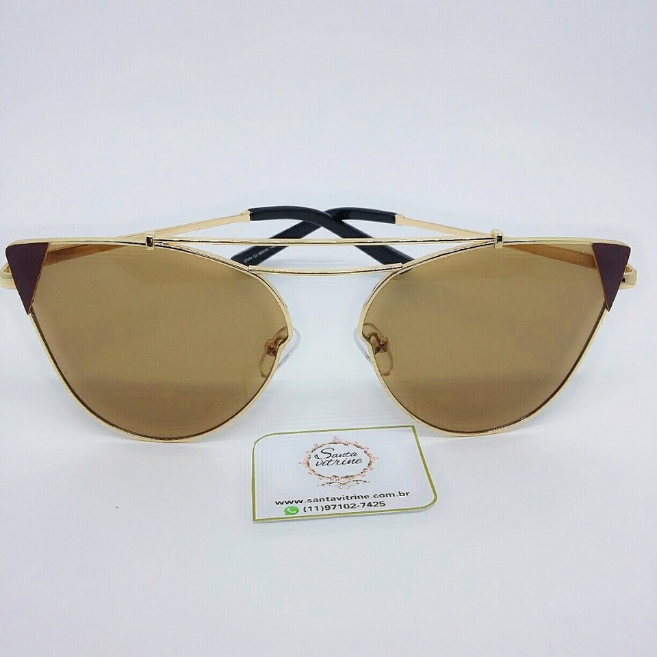 a71fb5b7c4e38 Óculos Caribe-Marrom - Santa Vitrine