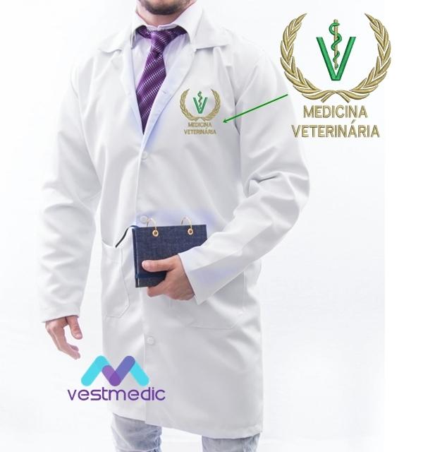 Jaleco Médico Masculino - VETERINÁRIA