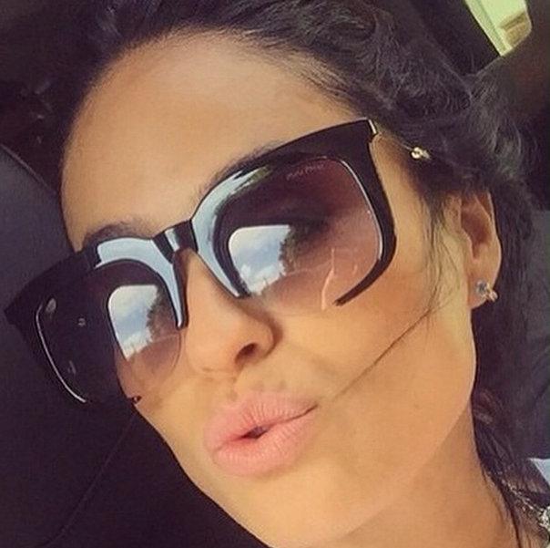 c5843785e6925 Óculos Miu Renoir Preto Brilho - Loja A Luxuosa