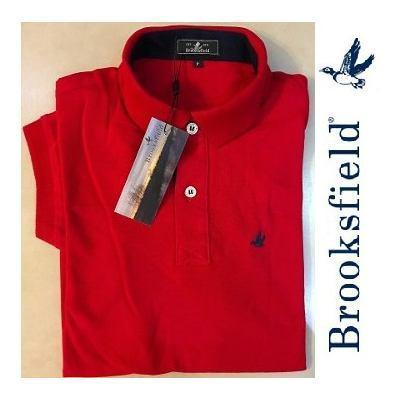 d0bfe650457c0 Camisa Polo Brooksfield Vermelha Lisa - MWgrifes - Aqui é Top!
