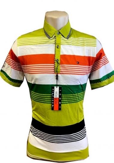618868a6d0a86 Camiseta Polo Tommy Hilfiger Listrada Colorida Mod 3 - MWgrifes ...