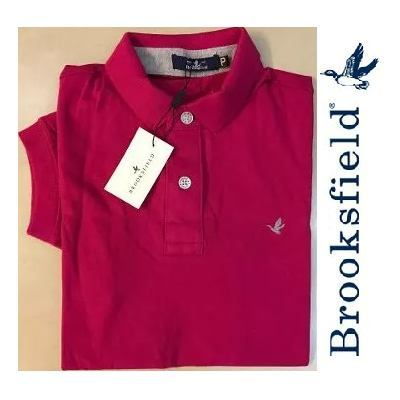 Camisa Polo Brooksfield Rosa Pink Lisa - MWgrifes - Aqui é Top! 9b80ba96118fc