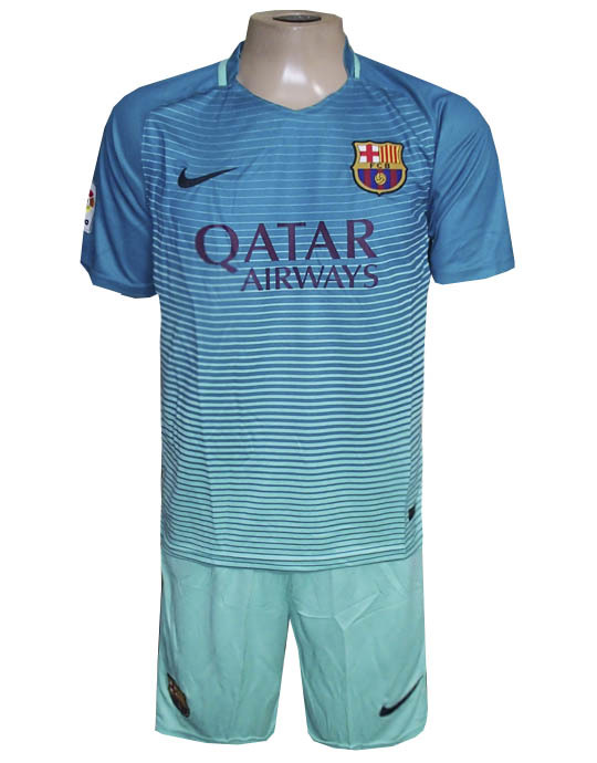 d49d72276f4b6 Conjunto Barcelona Nike Verde 2017 - MWgrifes - Aqui é Top!