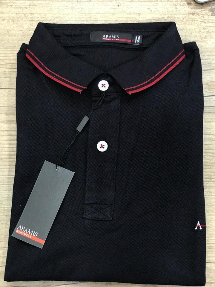 776e3a428f Camisa Polo Aramis Preta - MWgrifes - Aqui é Top!