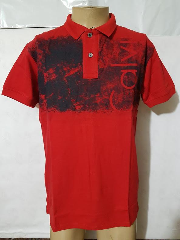 b1ed04e5efb0b Camisa Polo Calvin Klein Vermelha CKL - MWgrifes - Aqui é Top!