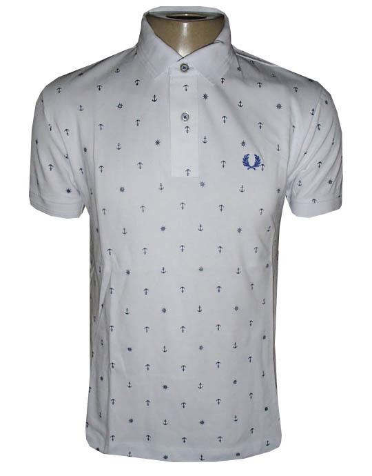 cdc66f693d Camisa Polo Fred Perry Branca Âncora - MWgrifes - Aqui é Top!