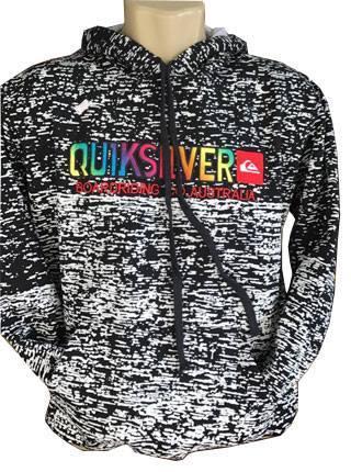 Blusa Moletom Quiksilver Preto Rajada Colors - MWgrifes - Aqui é Top! 7a700aabda
