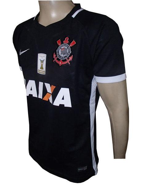 d9401d22439e5 Camisa Corinthians Nike Preta 2016 - MWgrifes - Aqui é Top!