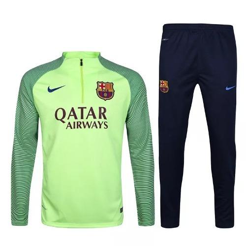 Agasalho Barcelona Nike Verde e Preto 17 18 - MWgrifes - Aqui é Top! 45665b8abfaed