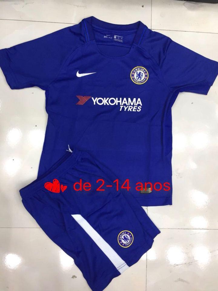 Conjunto Chelsea Azul Nike Infantil - MWgrifes - Aqui é Top! af667f8e58c52
