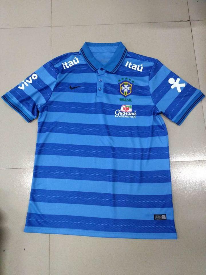 7fa5a41ce9bd2 Camisa Polo Seleção Brasileira Azul Listrada - MWgrifes - Aqui é Top!