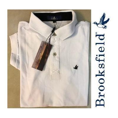 1c2e6078ff4 Camisa Polo Brooksfield Branca Lisa - MWgrifes - Aqui é Top!