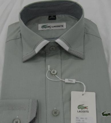 0a827cce8979d Camisa Social Lacoste Cinza OTK - MWgrifes - Aqui é Top!