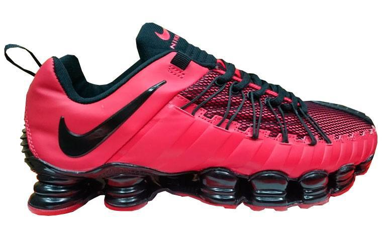 a3a2604b8e2 ... Masculino  Tênis Nike Total Shox 12 Molas Vermelho e Preto ...